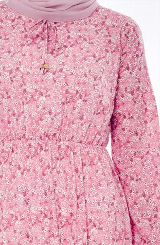 فستان زهري باهت 6162H-01