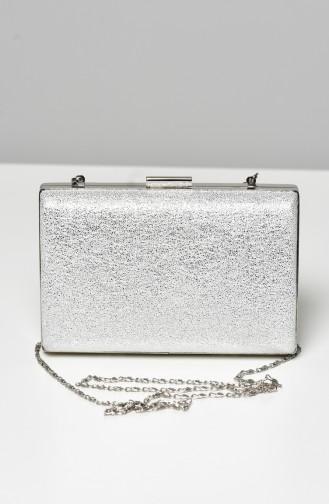 Silver Gray Portfolio Hand Bag 0275-03