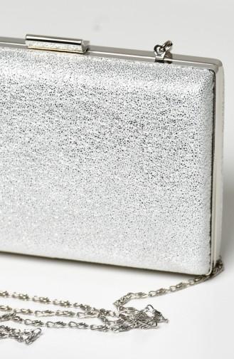 Silbergrau Portfolio Handtasche 0275-03