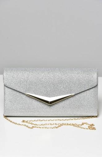 حقيبة يد رمادي فضي 0419