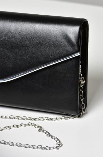 Schwarz Portfolio Handtasche 0458-04