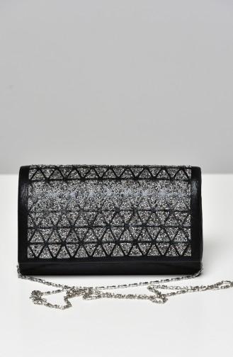 Schwarz Portfolio Handtasche 0333-04