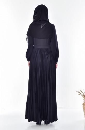 Pleated Dress 28358-06 Black 28358-06