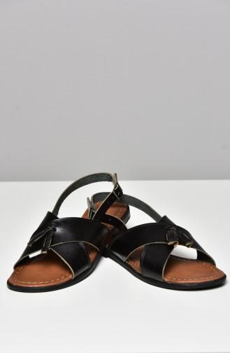 Black Summer Sandals 3008-18-01
