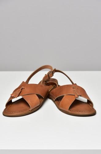 Tobacco Brown Summer Sandals 3008-18-02