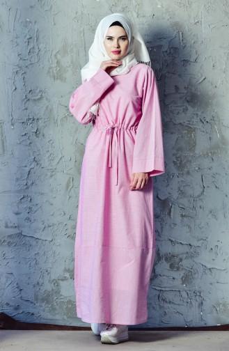 بيلي فستان رياضي بتصميم مزموم عند الخصر 4401-03 لون فوشيا 4401-03