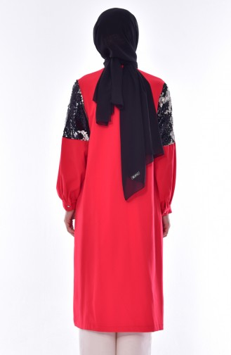Sequined Cape 8533-01 Red 8533-01