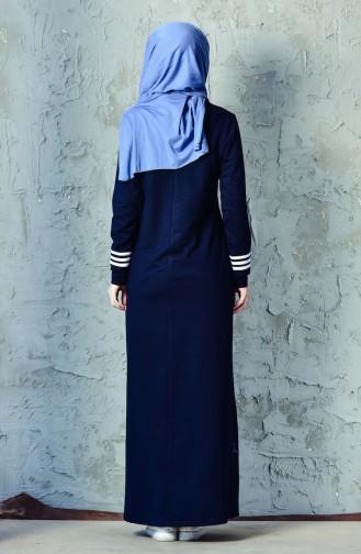 BWEST Striped Sports Dress 8207-01 Navy Blue 8207-01