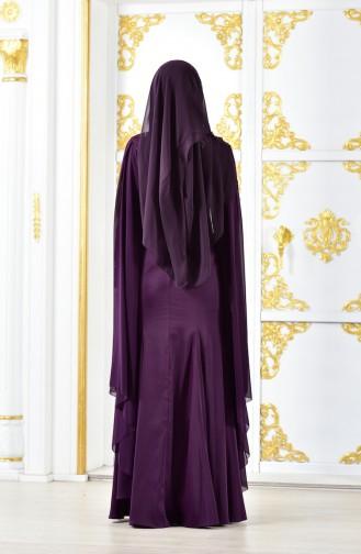 Guipure Evening Dress 8244-02 Purple 8244-02