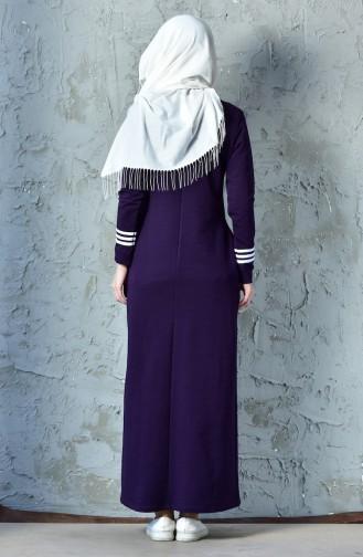 BWEST Striped Sports Dress 8207-03 Purple 8207-03