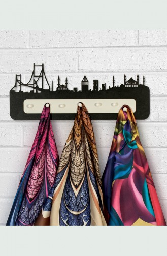 Black Shawl and Scarf Hanger 0012