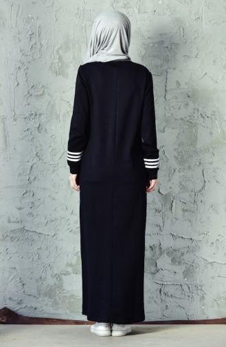 BWEST Striped Sports Dress 8207-05 Black 8207-05