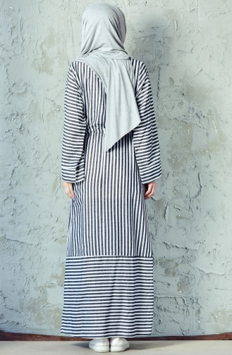 فستان رياضي بتصميم مُخطط 4402-03 لون أسود 4402-03