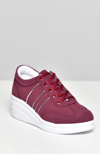 Claret red Sport Shoes 0101-10