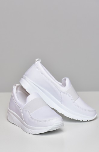 White Casual Shoes 0790-07