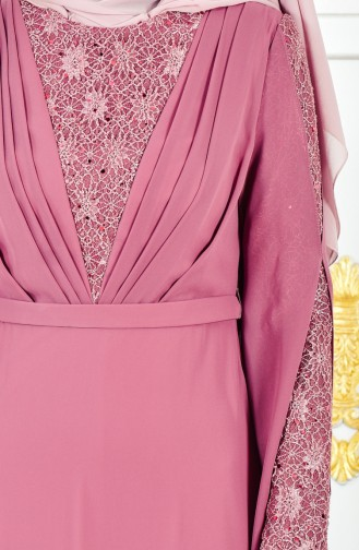 Lace Evening Dress 1284-03 Dried Rose 1284-03
