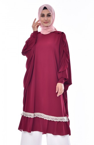 Bat Arm Flywheel Tunic 1016-02 Dark Plum 1016-02