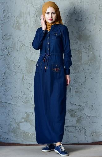 Navy Blue Dress 9200-01