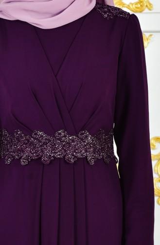 Purple İslamitische Avondjurk 1282-02