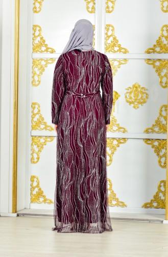 Robe de Soirée Grande Taille 1274-01 Plum 1274-01