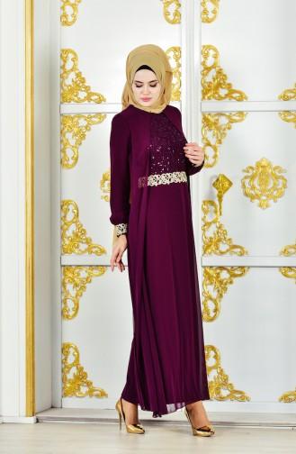 Chiffon Dress 52700-06 Plum 52700-06