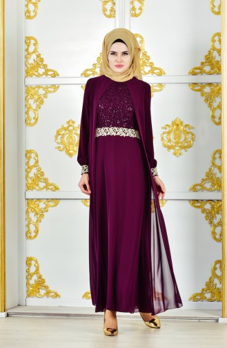 Robe Mousseline 52700-06 Plum 52700-06