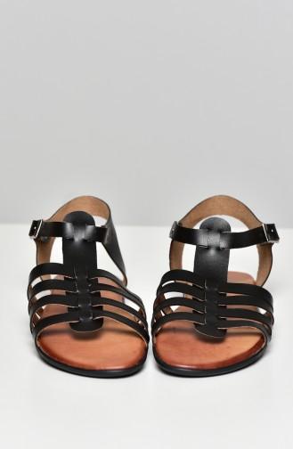 Black Summer Sandals 50269-01