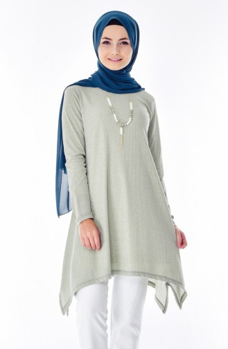 Necklace Asymmetric Tunic 0772-05 Open Khaki 0772-05