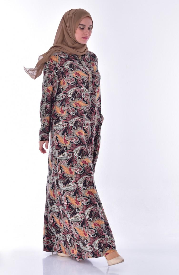 b3a1984af10bb Büyük Beden Taş Detaylı Elbise 1170-01 Bordo