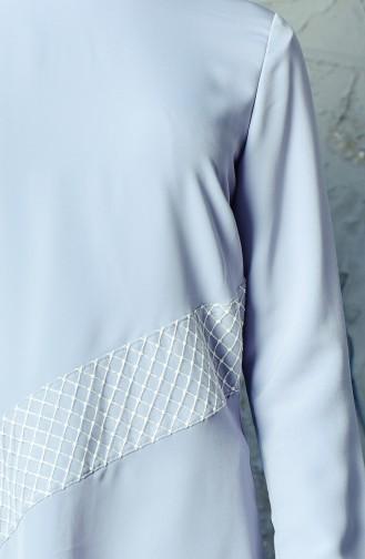 Ensemble Deux Pieces Tunique Pantalon 6131A-02 Gris 6131A-02