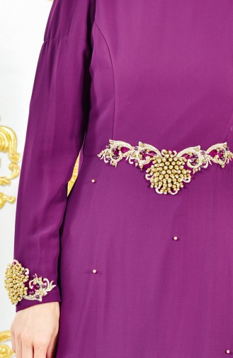 Robe de Soirée Perlées 11189-01 Pourpre 11189-01