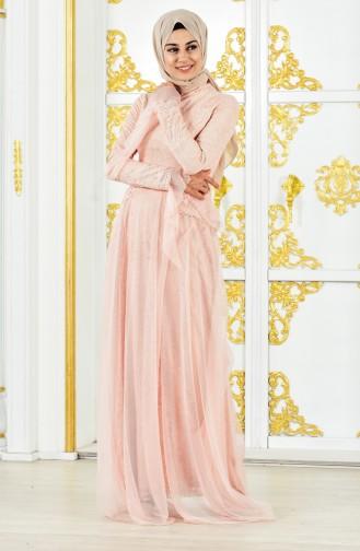 Lacy Evening Dress 11188-03 Powder 11188-03