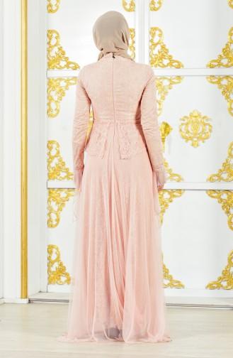 Dantelli Abiye Elbise 11188-03 Pudra 11188-03