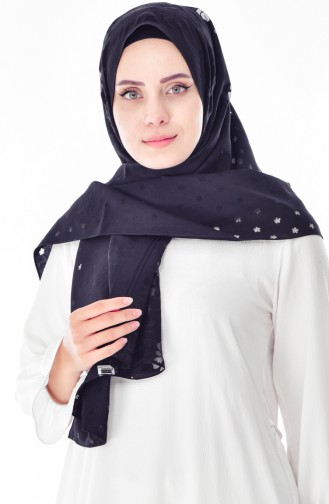 Plain Shawl 9081-01 Black 9081-01