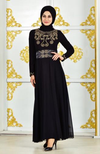 Pearl Evening Dress 1002-05 Black 1002-05