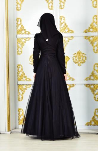 Robe de Soirée avec Collier 11190-01 Noir 11190-01