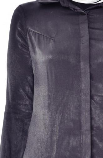 Gizli Düğmeli Uzun Tunik 50272-08 Siyah 50272-08