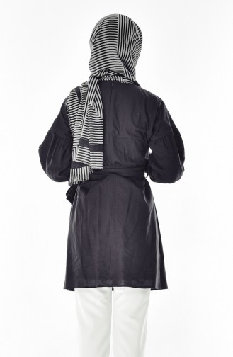 Cotton Tunic 1753-03 Black 1753-03
