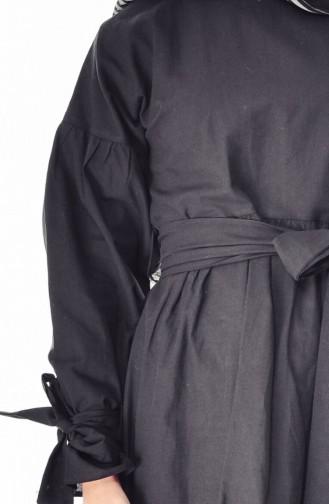 تونيك بتصميم قطن 1753-03 لون اسود 1753-03