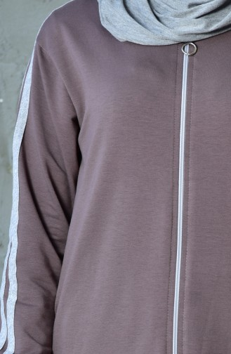 Zippered Tracksuit Suit 60100-06 Light Brown 60100-06