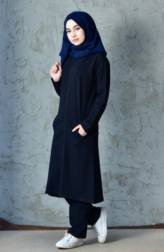 Zippered Tracksuit Suit 20110-02 Navy 20110-02