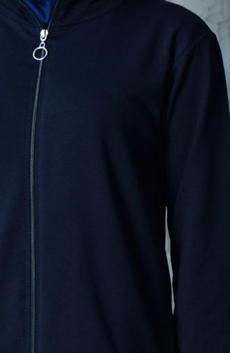 بدلة رياضية بتصميم سحاب 20110C-02 لون كحلي 20110C-02