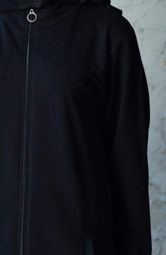 بدلة رياضية بتصميم سحاب 20110-01 لون اسود 20110-01