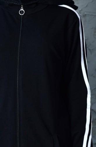 بدلة رياضية بتصميم سحاب 20110B-01 لون اسود 20110B-01