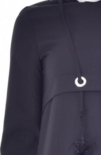 Ring Tasseled Dress 8040-08 Black 8040-08