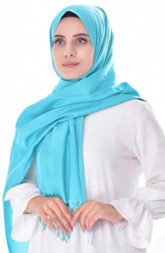 Plain Shawl 901358-20 Turquoise 20