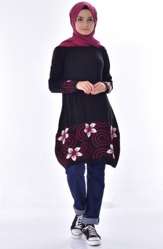 VMODA Patterned Sweater 4106-01 Black 4106-01