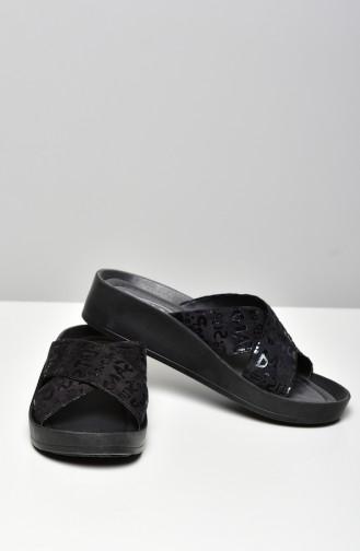 Black Summer Sandals 16294-18-02
