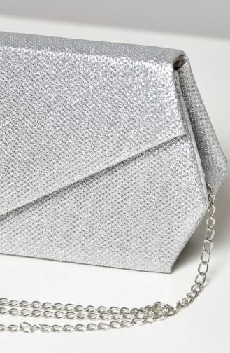 Silbergrau Portfolio Handtasche 0427-05