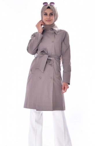 Trench Coat a Ceinture 90001-08 Vison 90001-08